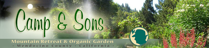 camp & sons - mountain retreat & organic garden - mendocino county - calif.